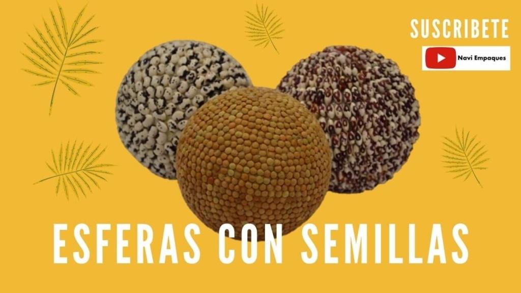 Esferas de Unicel con Semillas
