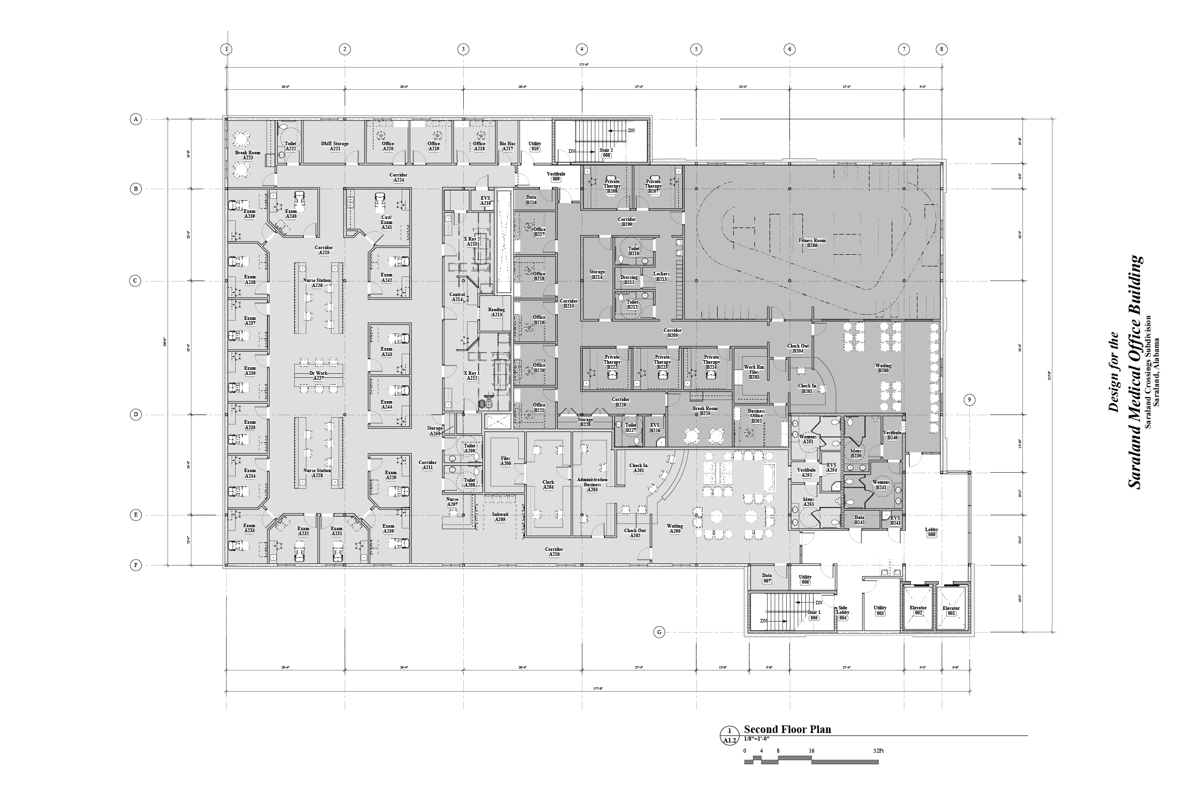Saraland Medical Offices second floor plan