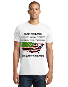 I/We Can't Breathe Map Shirt
