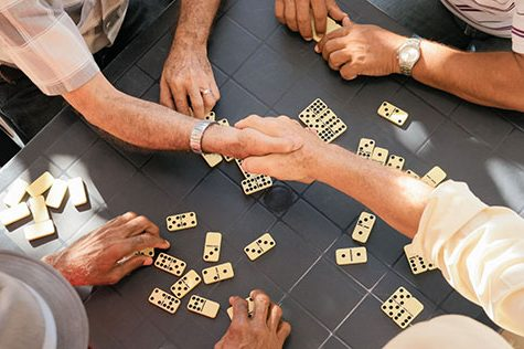 seniors playing games