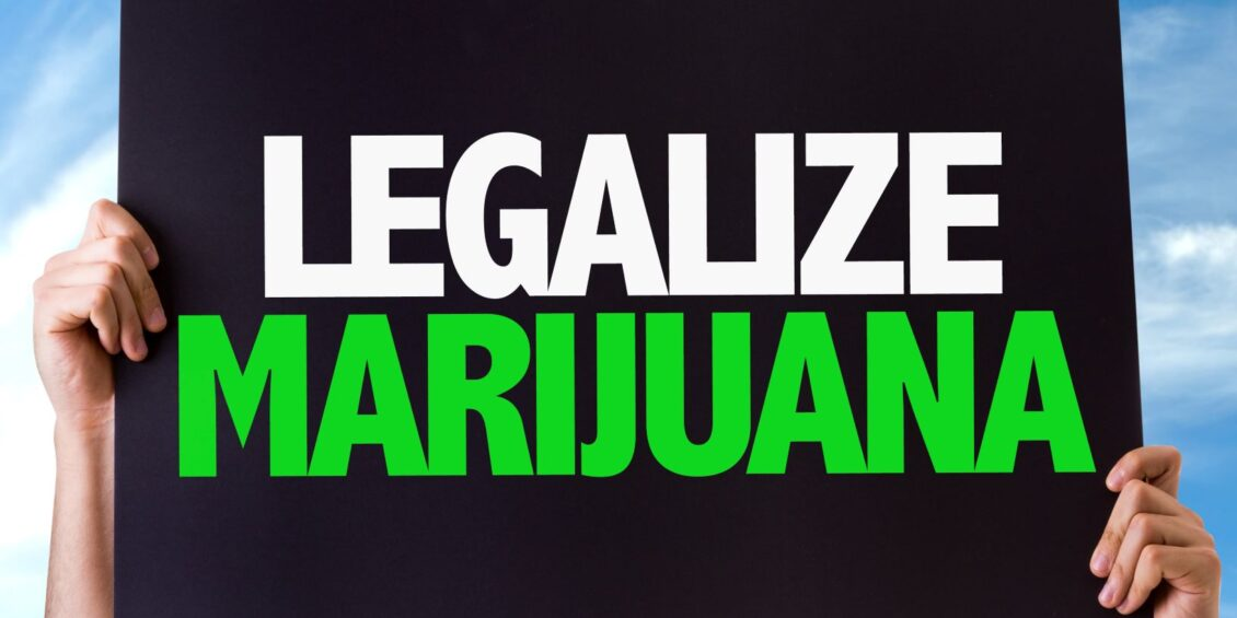 Sign with text Legalize marijuana