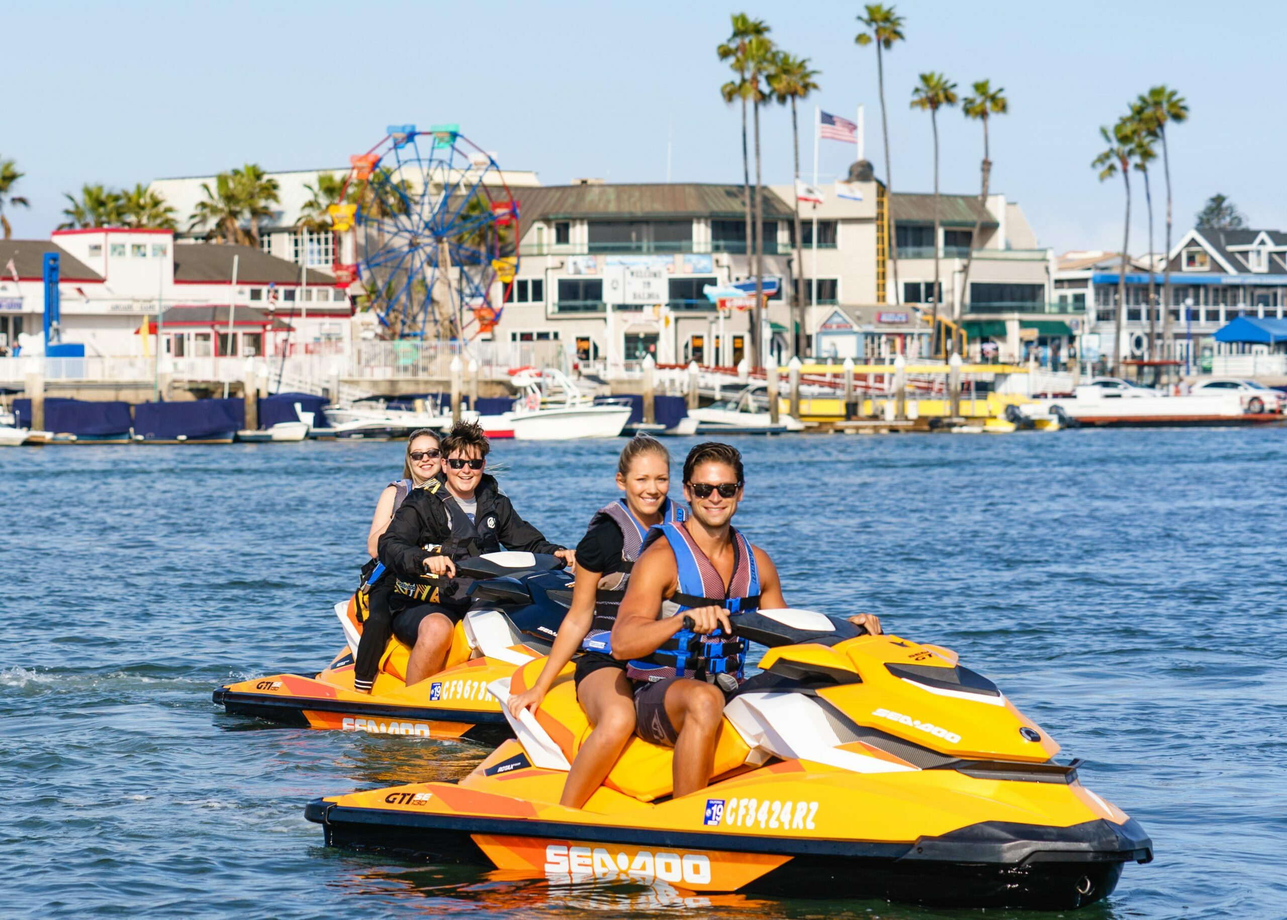 Sea Doo Rentals in Newport Beach Harbor.