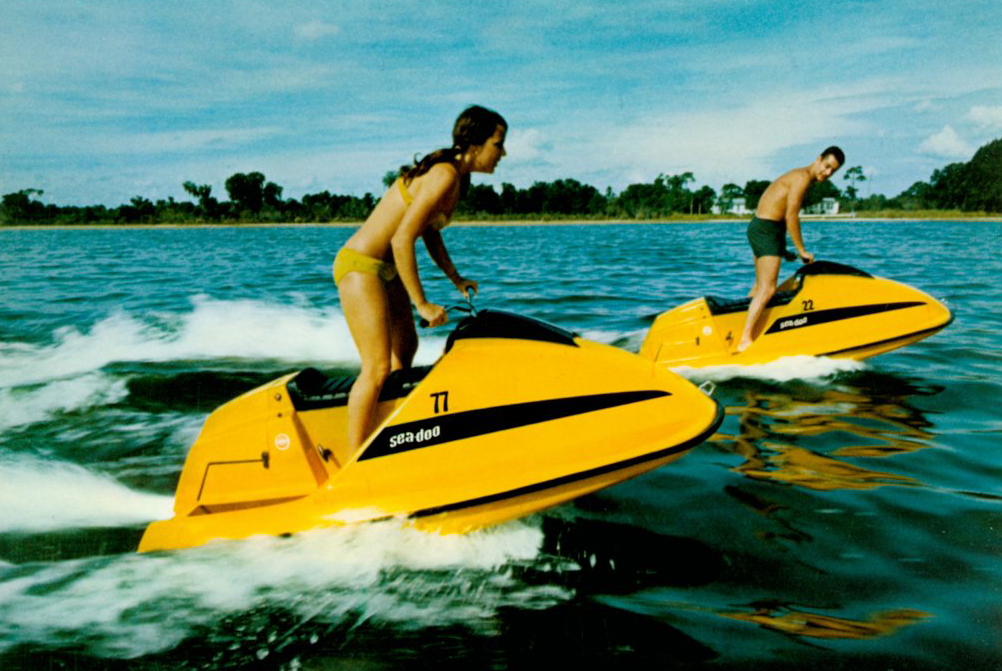The first Sea Doo was manufactured by Bombardier in the 1960s.
