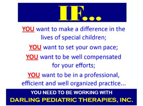 IMMEDIATE NEED for an Occupational Therapist and Speech Therapist