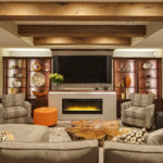 harbor house with box/faux beams