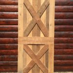 Criss cross barn door