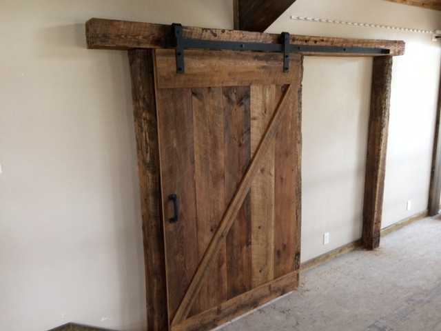 golden sliding barn door