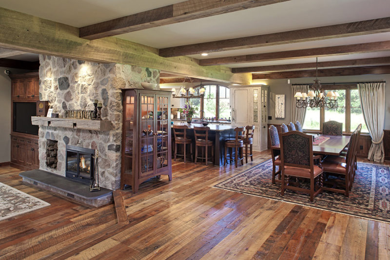 Wood flooring and box/faux beams