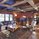 Beautiful room with box/faux beams
