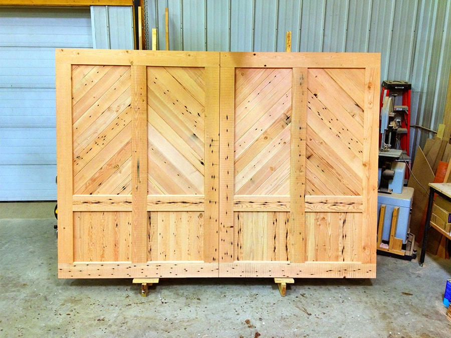 Light douglas fir garage door