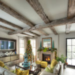 Hand hewn timber beams