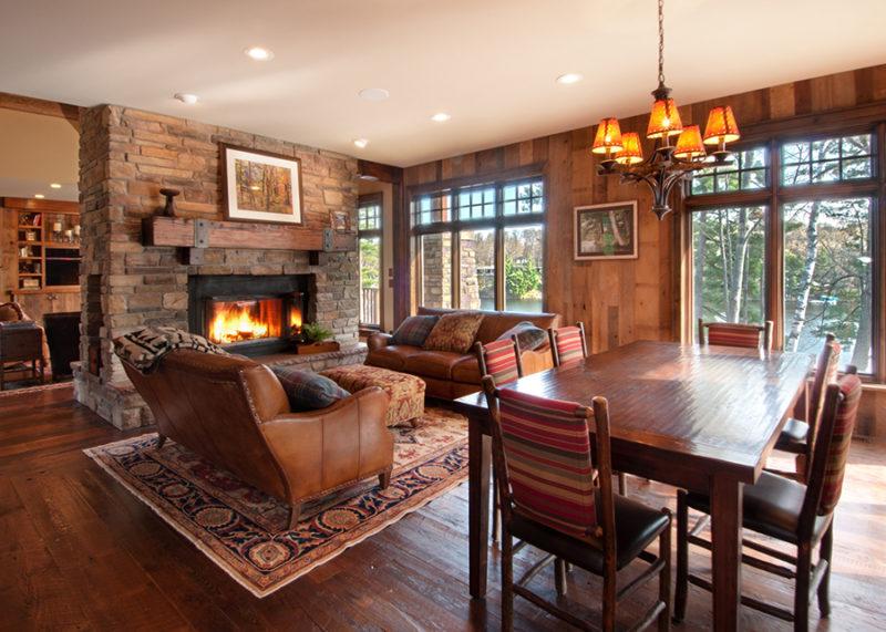 reclaimed wood mantel of douglas fir wood