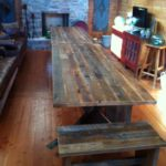 Original face reclaimed wood table top
