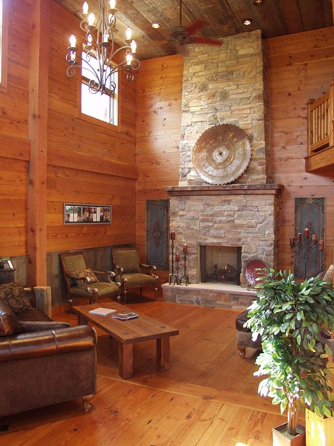 Example of douglas fir paneling