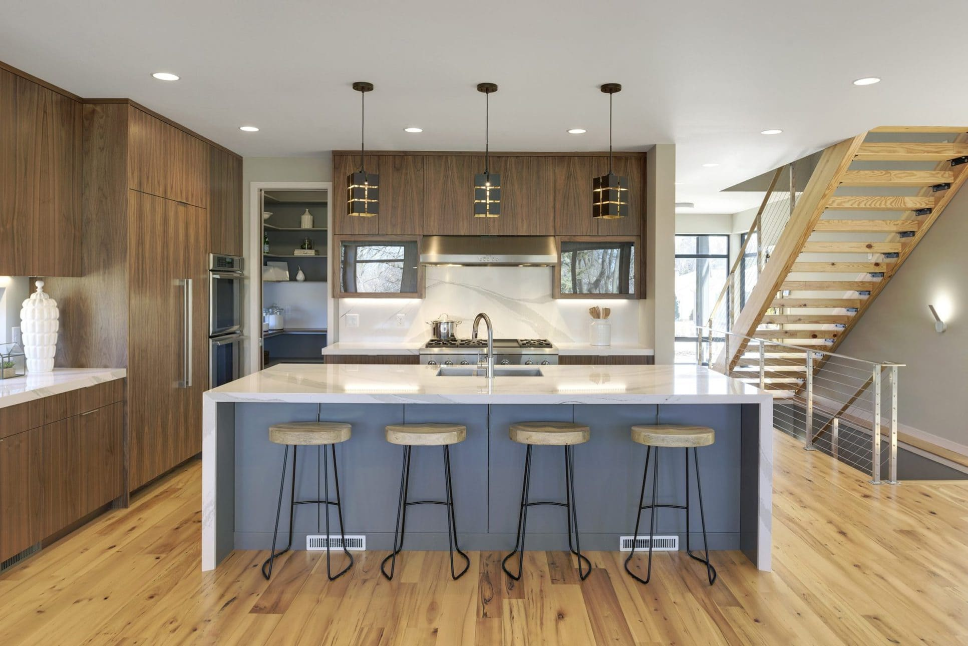 Kitchen Elm Wood Reclaimed Flooring