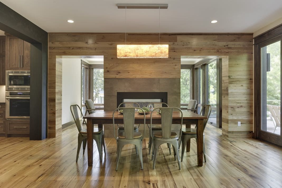 elm flooring dining room by Manomin Resawn Timbers