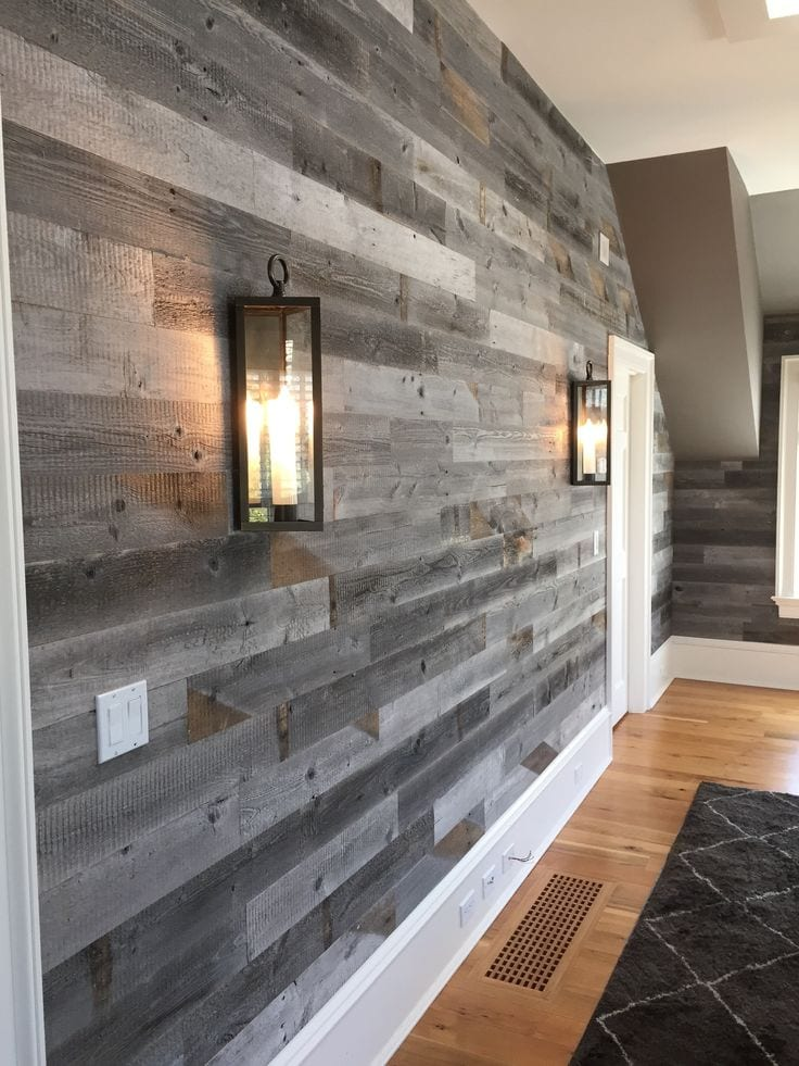 Barn wood accent wall by Manomin Resawn Timbers