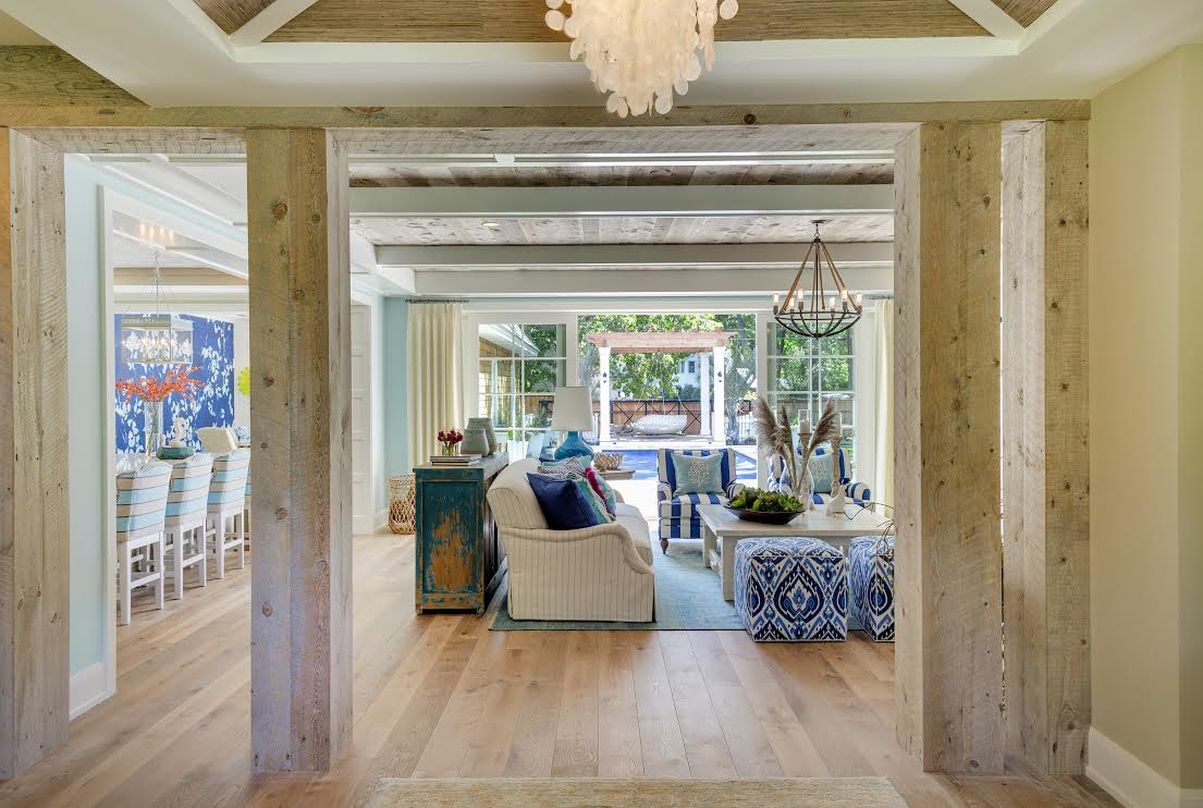box beams living room
