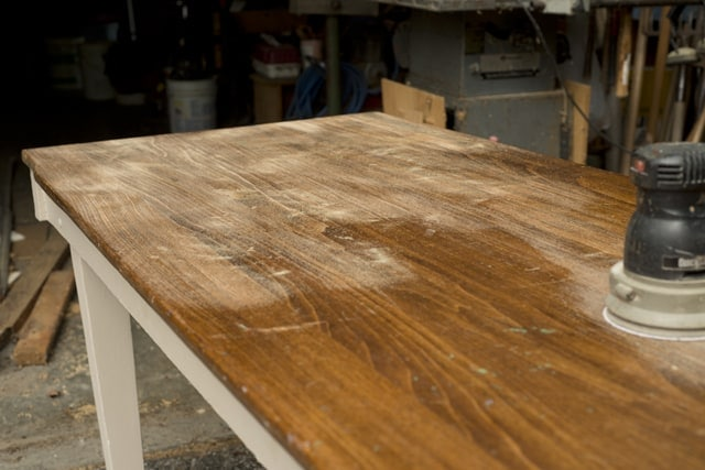 Reclaimed wood countertop and table top.