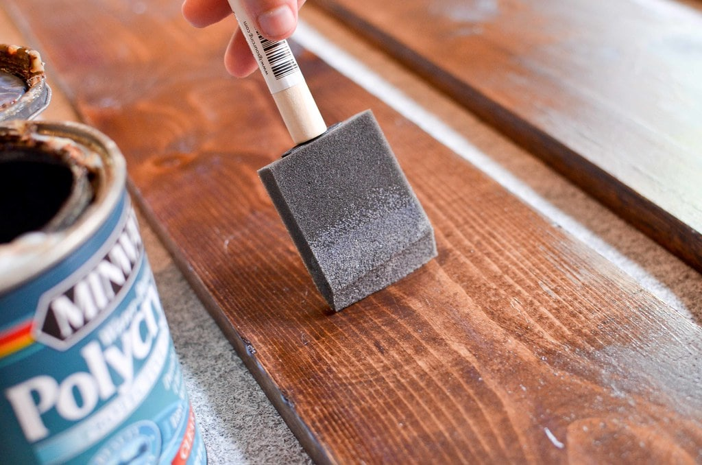 how to finish reclaimed wood with stain