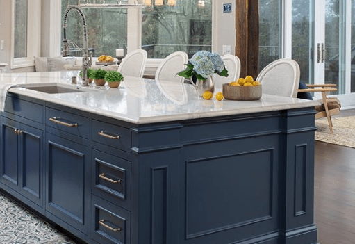 custom built kitchen island by Highmark Builders