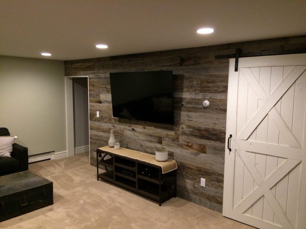 grey wood wall