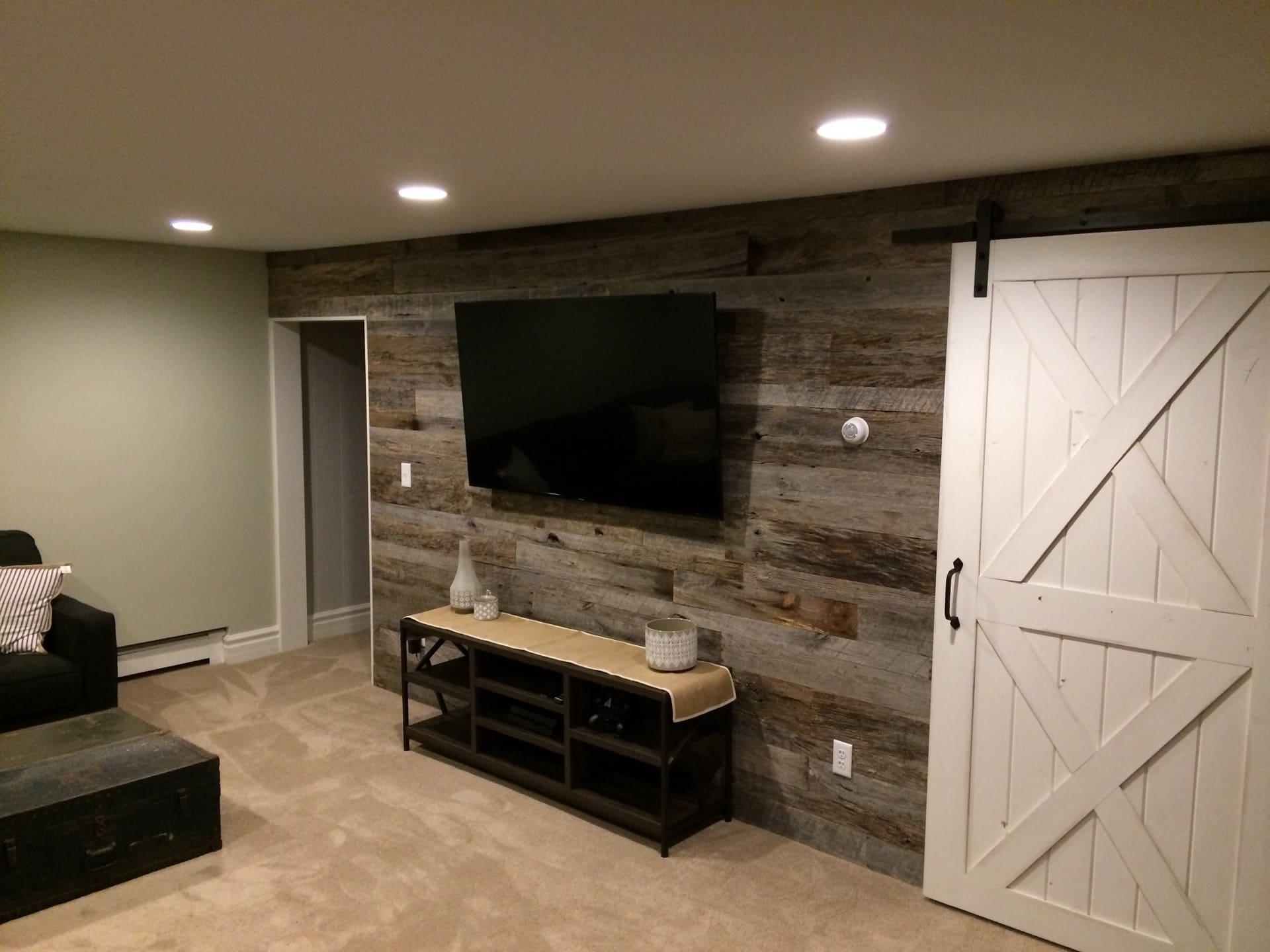 grey wood wall