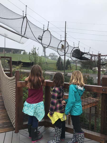 We went to the Zoo in Omaha - it was sooo awesome! There was a kid's playground where monkeys played right above you!