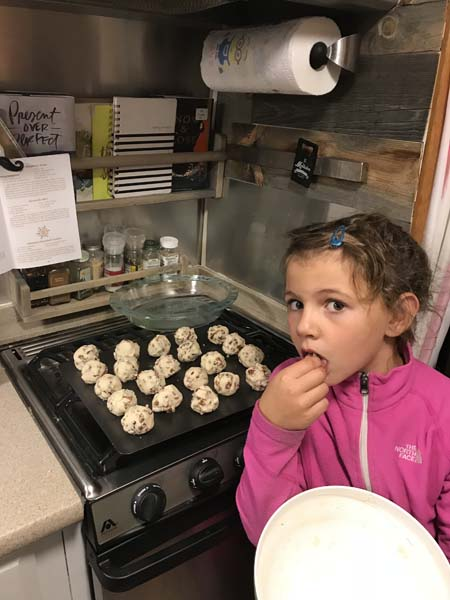 We made cookies from Ma Ingall's cookbook! So yummy!