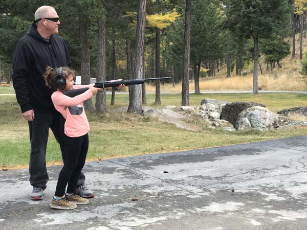Uncle Jeff taught us how to use a rifle!