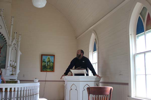 It was Sunday, so Matt felt that he needed to give us a fire & brimstone sermon.