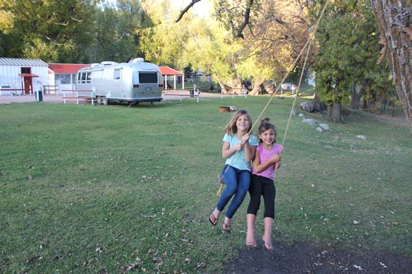 We love camgrounds with tree swings!