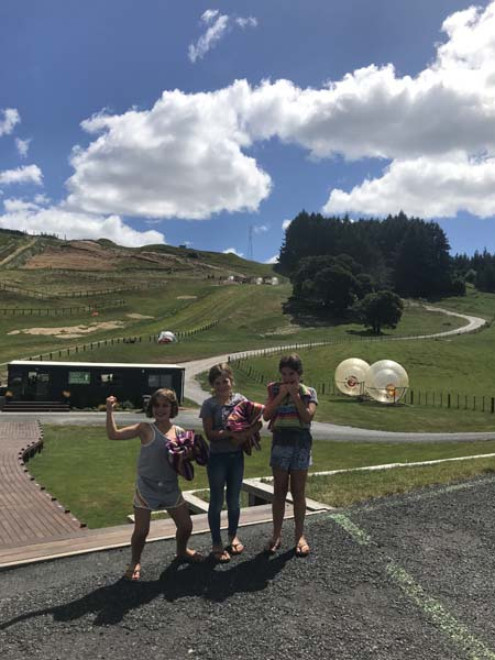 Zorbing, when you put yourself inside of a ball and are tossed down a hill. AKA human hamster.