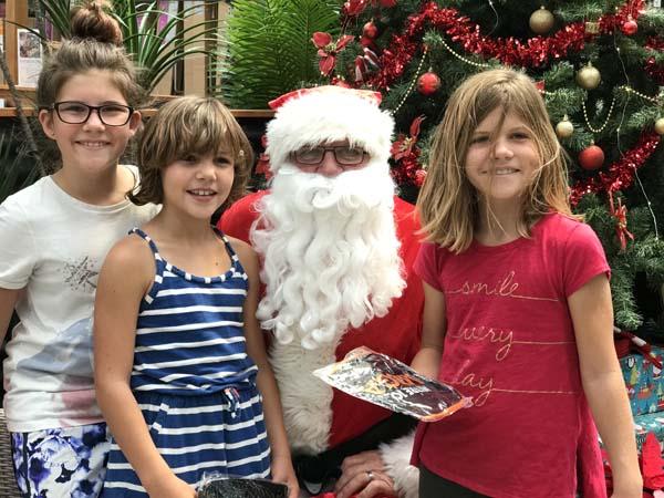 We got to see santa at a hardware store!