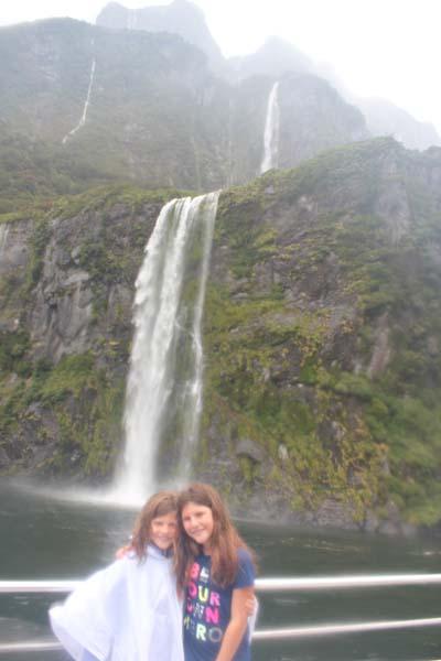 The girls naming the waterfalls!