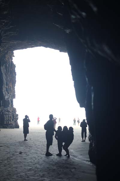 You can only get to the caves at low tide - so we planned our day around them and we are so glad we did!