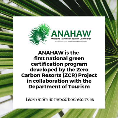ANAHAW Philippine Sustainable Tourism Certification