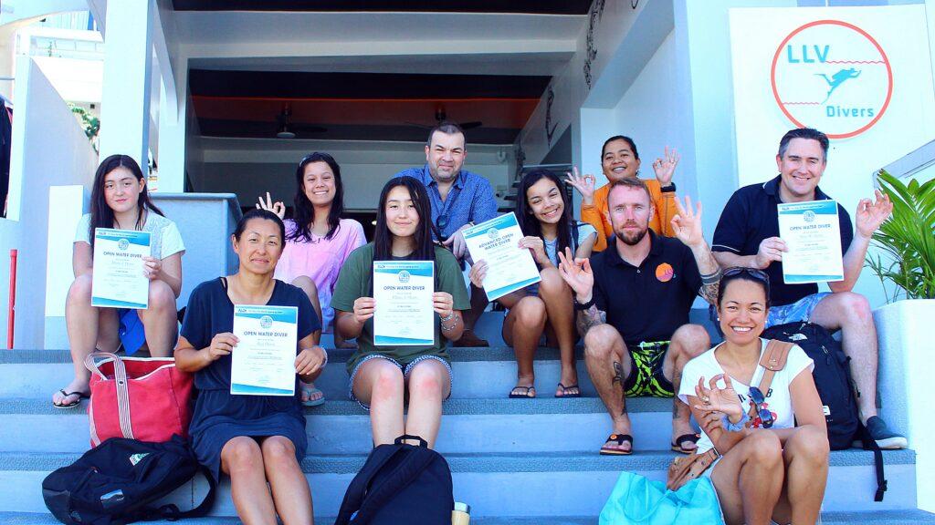 Family Diving at Lalaguna Villas