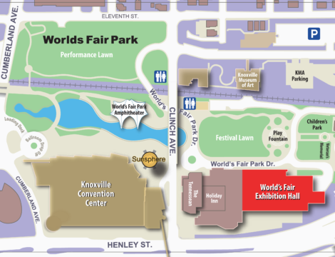 World's Fair Exhibition Hall | Events in Knoxville, TN on world cotton centennial map, ny world fair pavilion map, world fair site map, seattle center map,