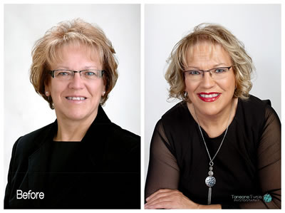 Shine portrait photography before and after