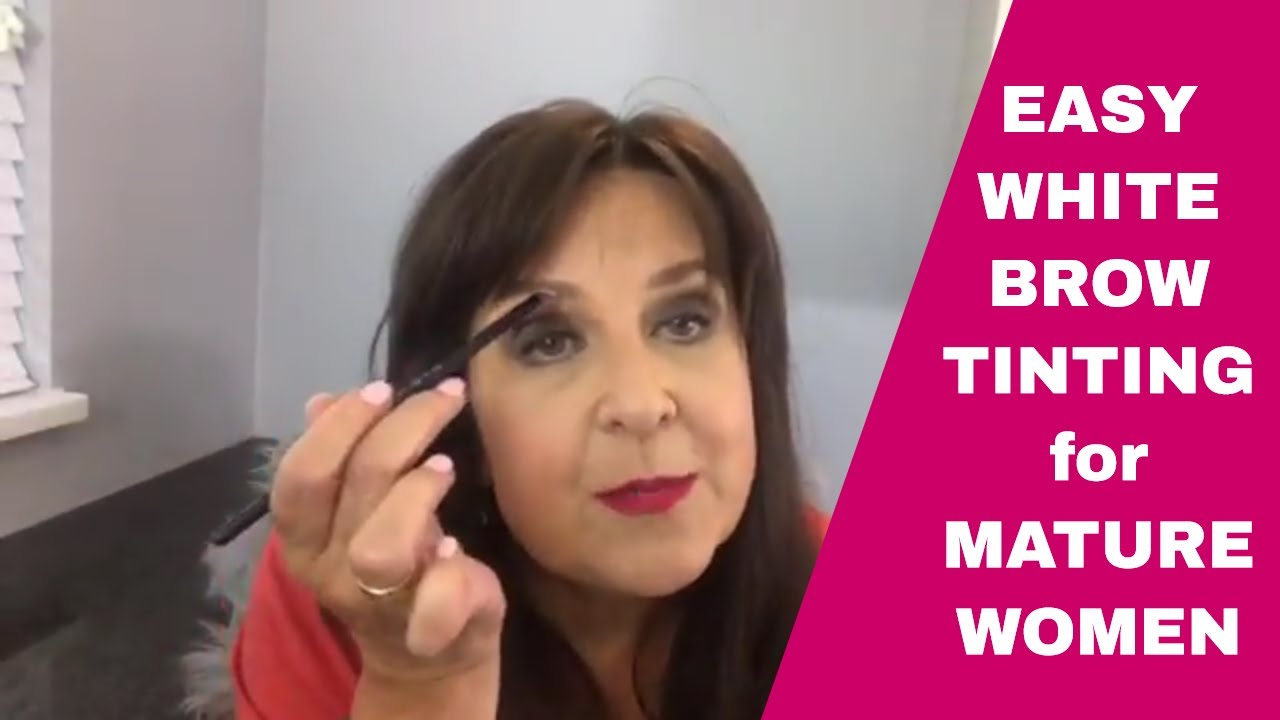 WHITE BROW HAIRS? Easy Brow Tinting For Mature Women