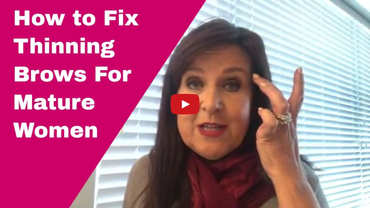 How to Fix Thinning Brows For Mature Women