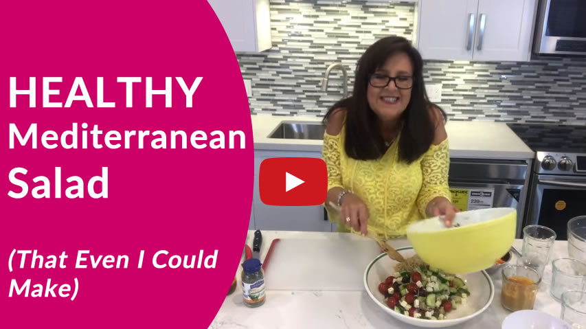 A Healthy Mediterranean Salad Recipe (That Even I Could Make)