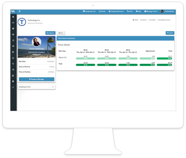 Realtime & Integrated With HRMS