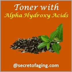 Toner with Alpha Hydroxy Acids by Secret of Aging