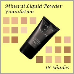 18 Shades Mineral Liquid Powder Foundation by Secret of Aging
