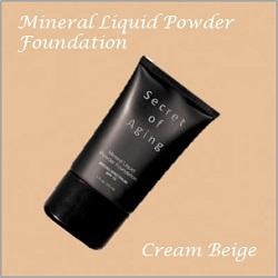 Cream Beige Mineral Liquid Powder Foundation by Secret of Aging