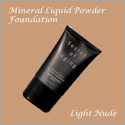 Light Nude Mineral Liquid Powder Foundation by Secret of Aging