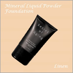 Linen Mineral Liquid Powder Foundation by Secret of Aging