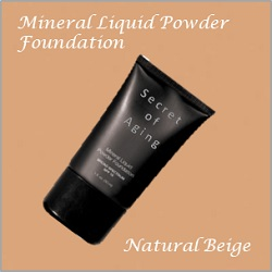 Natural Beige Mineral Liquid Powder Foundation by Secret of Aging